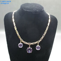 SPECTACULAR 33.08CT ALEXANDRITE SOLID 18K GOLD 3 TIER NECKLACE 40CM 1980'S