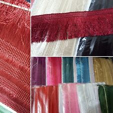 Tassel Fringe Fringing Trim 2 inches wide (12 DIFFERENT COLOURS) 10 yards