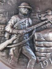 1-OZ.LONGINES STERLING SILVER BULLION? 1918 WORLD WAR 1 THE DOUGHBOYS COIN+GOLD