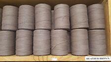 Rug Warp- Lot of 10 (1/2 lb ea.)- Cotton/Polyester Blend- Color Heather Brown