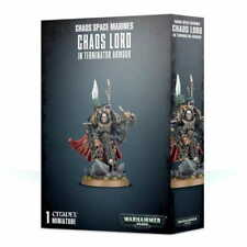 WARHAMMER - CHAOS SPACE MARINES CHAOS LORD IN TERMINATOR ARMOUR - NEW/BOX