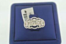 & Round Cut Diamond Right Hand Ring 14K White Gold 1.50 Ct Marquise, Princess,