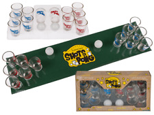 Drinking Games, Shots Pong, With 2 Balls, Play Board & 12 Shooter Glasses