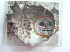 Cayuga Wine Trail King Ferry Winery GRAPES Bunch Metal COOKIE CUTTER w/ Recipe