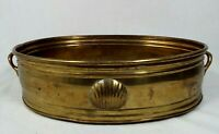 VINTAGE HOLLYWOOD REGENCY MIDCENTURY MODERN BRASS CLAM SEA SHELL POT PLANTER