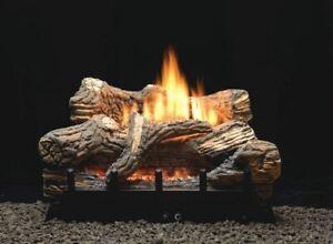 """Empire Flint Hill  6-piece 24"""" 34000 BTU Ceramic Fiber Log Set - Natural Gas"""