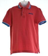 DIADORA Boys Polo Shirt Size 8 Small Red Cotton
