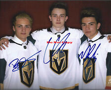 Vegas Golden Knights CODY GLASS NICK SUZUKI ERIK BRANN autographed 8x10 photo RP