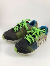 "CHILD'S SIZE 11 BLACK, GREEN & BLUE ""ZIG TECH"" REEBOK SNEAKERS OR TENNIS SHOES"