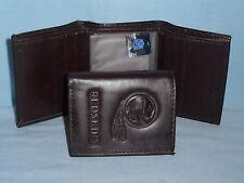 WASHINGTON REDSKINS    Leather TriFold Wallet    NEW    dark 3v
