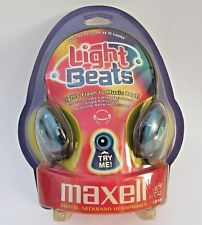 Vintage Maxell Neckband Stereo Headphones Light Beats Sealed New Old Stock LB-1b