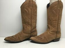VTG WOMENS GUESS COWBOY SUEDE LIGHT BROWN BOOTS SIZE 8.5
