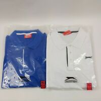 Slazenger Polo Shirt XL white and blue brand new polo t shirts free delivery