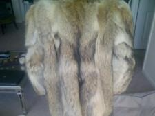 Canadian silver fox fur coat