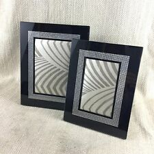 Art Deco Style Picture Frame Photo Photograph Frames Black Silver