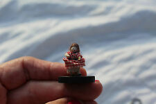 Mid-1900's ANTIQUE MINIATURE PEGGED WOODEN DOLL for DOLLHOUSE! 7/8 inch tall
