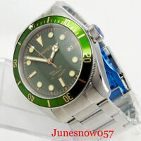 High Quality 41mm PARNIS Sapphire Glass Automatic Men's Watch Date Wristwatch