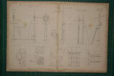 1855 gran impresión Locomotora ~ estación de carretera señales semáforo auxiliar Stevens