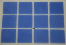 """0118.30- 12 PIECES 1/2"""" x 1/2"""" OPAQUE PERIWINKLE BULLSEYE 3mm THICK GLASS 90 COE"""