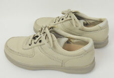 Clarks Womens 9 Beige Genuine Leather Lace Up Oxford Supportive Walking Shoe