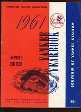 1961 MLB Baseball New York Yankees Revised Yearbook VG+