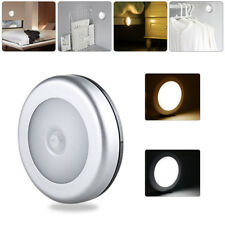 PIR Auto Sensor Motion Activated Cordless Infrared LED Night Light Silver