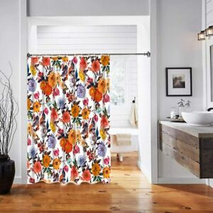 Nice Gorgeous Hopeful Floral Colorful French Country Boho Fabric Shower Curtain