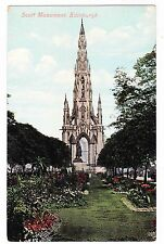 Scott Monument- Edinburgh Scotland-Postcard