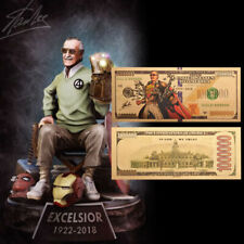 Stan Lee's Captain Marvel Collection Banknote Fan Gifts Papel moneda