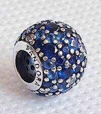Sterling Silver Pandora Sparkling Blue Pavè Ball Charm