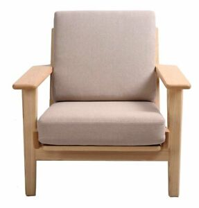 Adalyn Armchair, Modern Mid-Century Scandinavian, Wood & Fabric