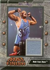 2003 FLEER WWE WRESTLEMANIA XIX MAT FINISH ROB VAN DAM EVENT USED RING MAT