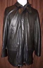 Ralph Lauren Purple Label Lambskin Leather Coat Jacket Made In Italy Medium Mens