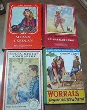 4 livres svenska vintage jeune fille, 1950, World FREE Shipping*