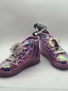 Disney Frozen 2 Elsa and Anna Winter Glitter High Top Sneaker