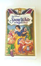 Walt Disney Snow White And The Seven Dwarfs VHS Masterpiece Collection