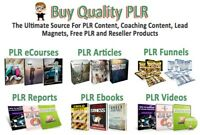 40+ Million ULTIMATE PLR Pack Articles eBooks Music Videos etc with Resale Right