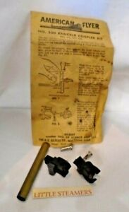 AMERICAN FLYER S SCALE #520 LINK TO KNUCKLE COUPLER KIT 2 COUPLERS  #1