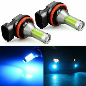 JDM ASTAR 2x 1200Lm H11/H8/H9 LED Fog Driving Lights Ice Blue 8000K Bulb Lamps