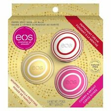 EOS Holiday Box Set Vanilla Peppermint Cherry 3 in 1 Shea Lip Balm