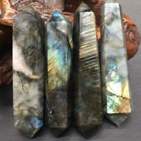 80-100gNatural Labradorite Quartz Crystal Double Terminated Wand Points Healing