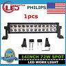 "14""inch 72W Philips LED Work Light Bar Spot Off-road Driving Lamp UTE Boat Truck"