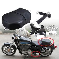 Rear Seat Passenger Foot Peg Mount Set For Harley Sportster 883 Low XL883L 07-13