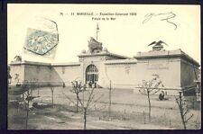 cpa Cachet EXPO COLONIALE 1906 MARSEILLE Palais de la Mer Météorologie Sauvetage