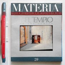 Materia n. 29/1999 Rivista di architettura Cover Luigi Ghirri Inside Aldo Rossi