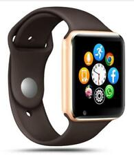 Reloj Inteligent Bluetooth Podómetro Con tarjeta SIM TF Cámara color NEGRO/ORO