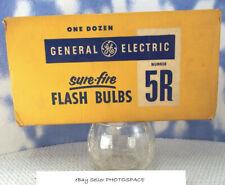 12) INFRARED 5R Flash Bulbs GENERAL ELECTRIC in Original Box Vintage UNUSED 3a