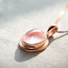 Elegant 18K Rose Gold Plated Silver Filled Gem Pendant Necklace NF40
