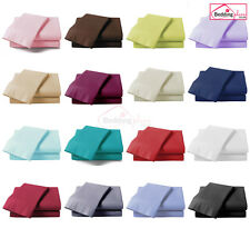 *CLEARANCE SALE* PLAIN DYED 100% POLY COTTON FITTED SHEET SINGLE DOUBLE KING