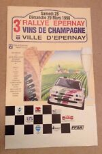 RALLYE EPERNAY CHAMPAGNE 1998 OFFICIAL POSTER FORD ESCORT RALLY CAR AUTO SPORT